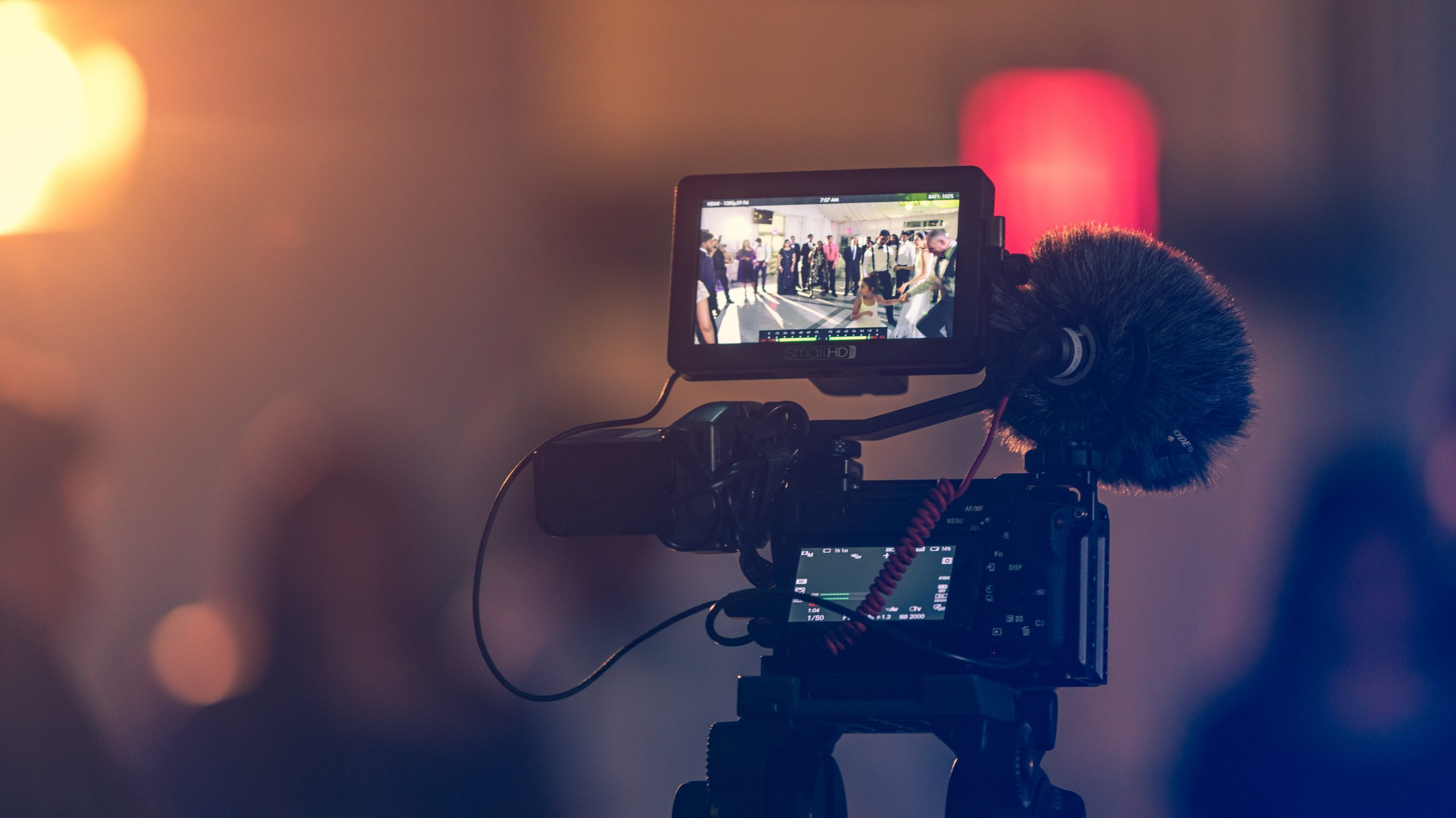 filming with a video camera